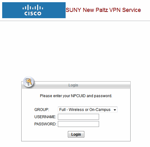 VPN web login