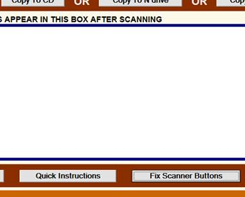fix scanner buttons button
