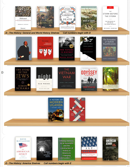 New book shelf page