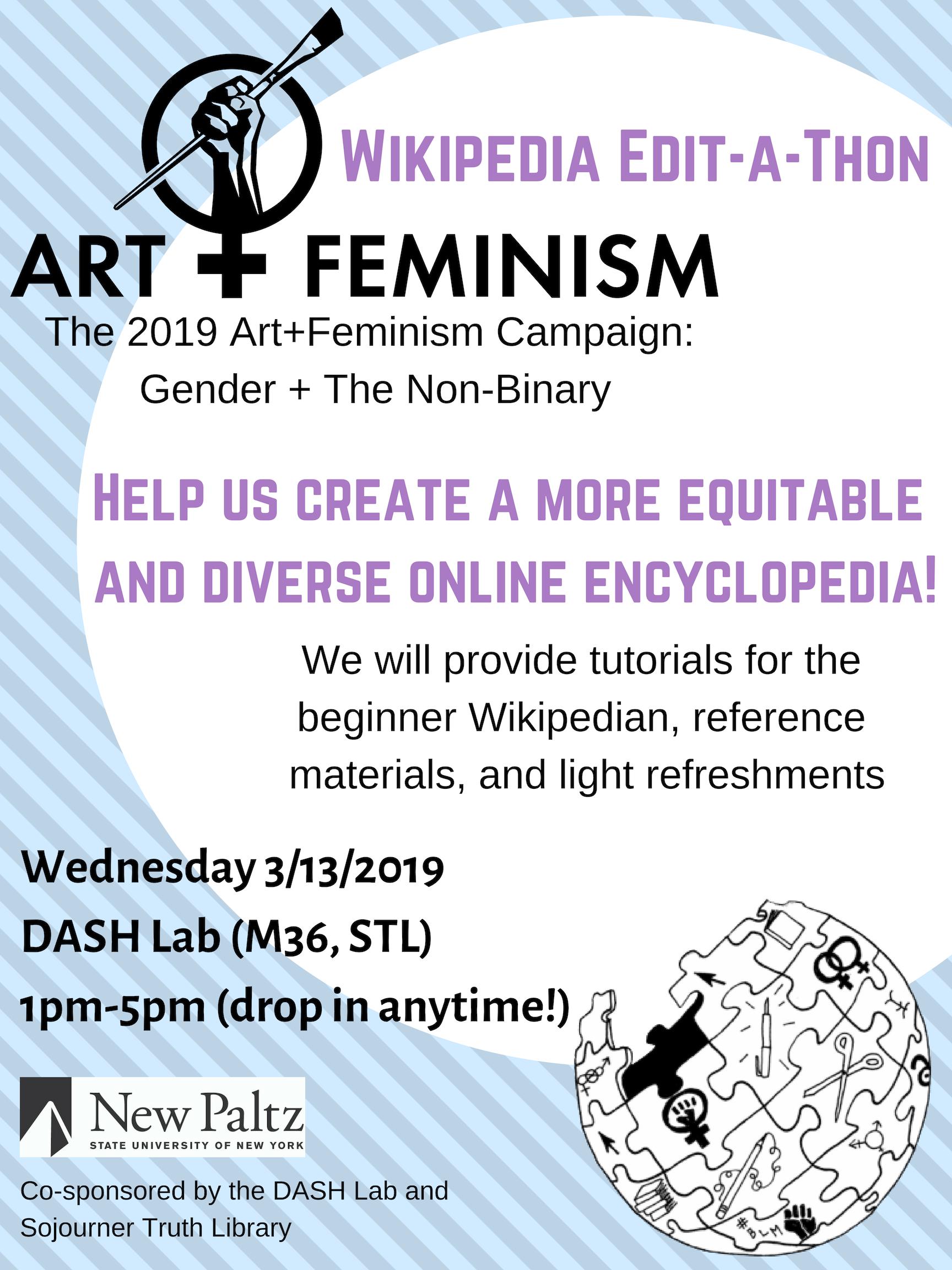 Art+Feminism Wikipedia-thon 2019