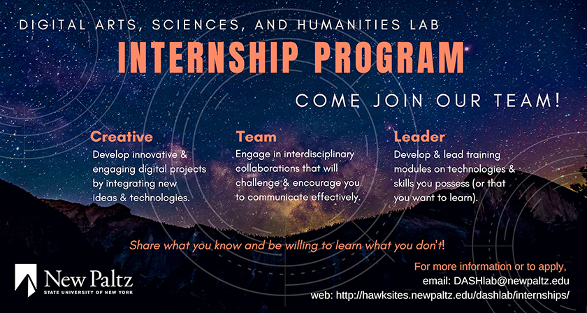 DASH Lab Internship Program: Come join our team!