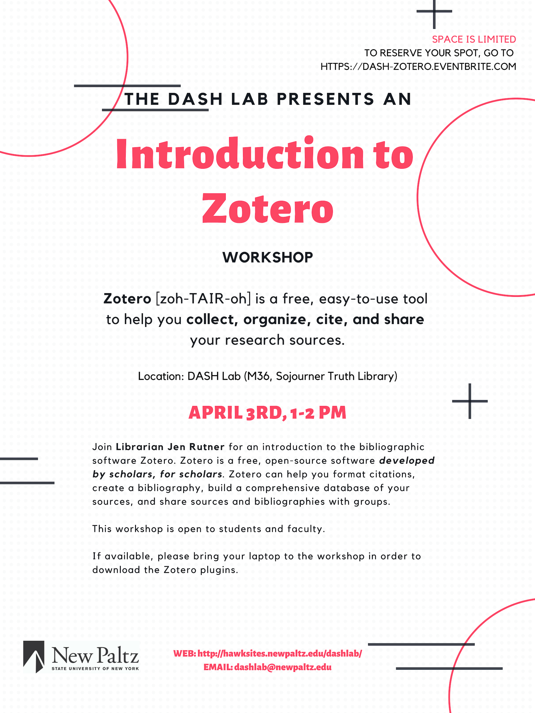 DASH Lab Training: Introduction to Zotero
