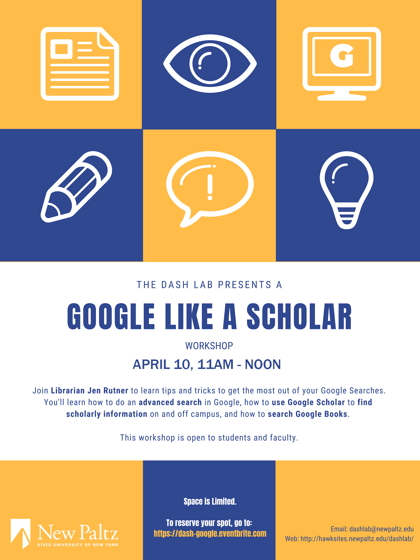 DASH Lab Training: Google Like a Scholar