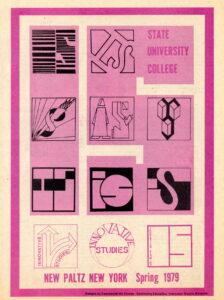 Innovative studies program poster showing designs of IS logo