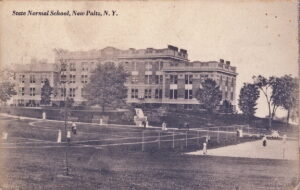 Old Main Post Card Playing Tennis