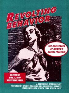 Poster for Revolting Behavior Conference woman looking over her shoulder